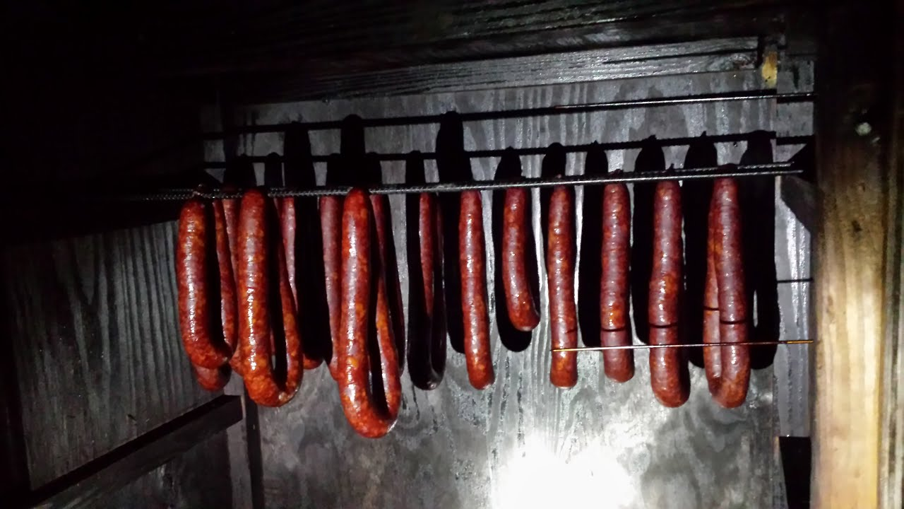 Making smoked sausage ( venison and pork)