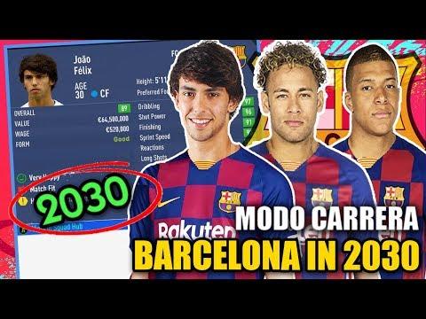 BARCELONA IN 2030!!! - FIFA 19 Career Mode (Joao Felix, Sancho, Mbappe, Kane)