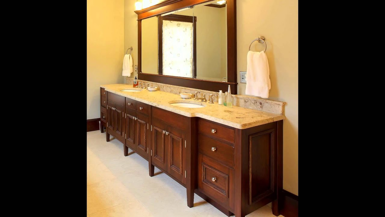 Double Sink Bathroom Vanity YouTube