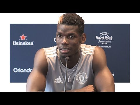 Paul Pogba Pre-Match Press Conference - Barcelona v Manchester United - Manchester United Tour 2017
