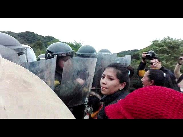 Violenta incursión policial y estatal en la Reserva TAriquía: agreden a mujeres y niños