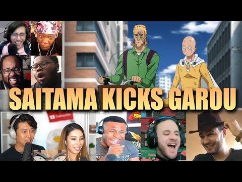 Saitama Kicks Garou REACTION MASHUP - One Punch Man Season 2 Episode 9