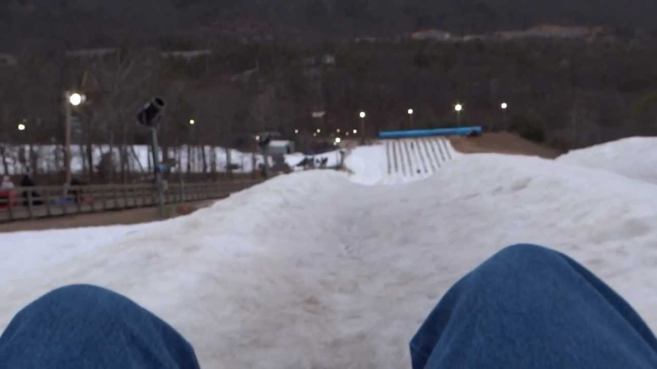 snow tubing - massanutten virginia - youtube