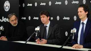 The press conference featuring Agnelli, Elkann and Marchionne