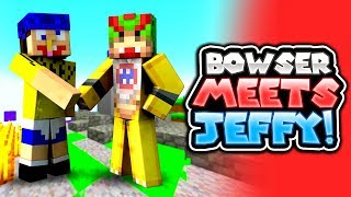 JEFFY MEETS BOWSER JR! [FUNNY!] - Mario's Nintendo Land - (Minecraft Switch) [5]