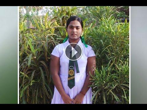 Srilankan schol Mädchen viedo