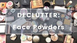 Face Powders Declutter 2018