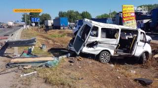 Крупная авария случилась на трассе недалеко от Невинномысска