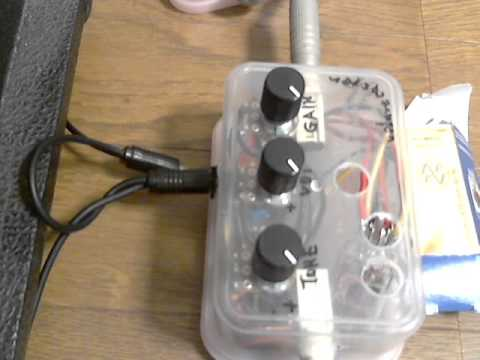 valve caster Overdrive Tube 12au7 (jj ecc82) Booster DIY sound test