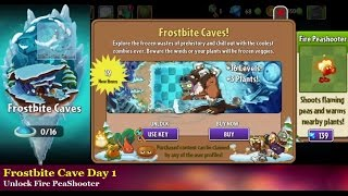 Plants vs Zombies 2: Frostbite Caves Day 1 - New Zombies - Updated map 7