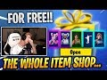 TFUE Reacts to ALL his SKINS he got GIFTED by STREAMERS!! - Fortnite Epic & Funny Moments