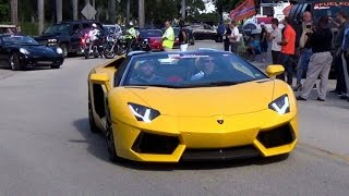BEST OF LAMBORGHINI AVENTADOR  REVS ACCELERATION DRIVE BY.  MIAMI SUPERCAR ADVENTURE
