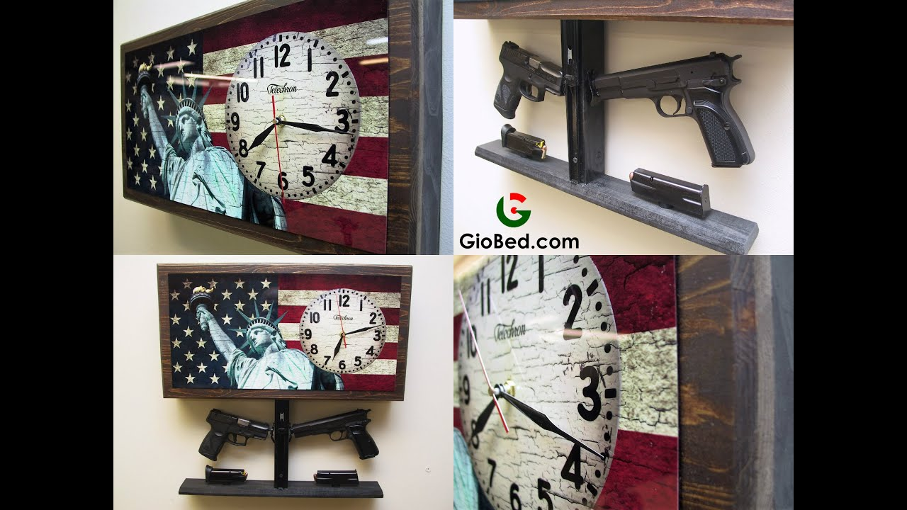 Double Liberty Tactical Wall Clock Gun Safe YouTube