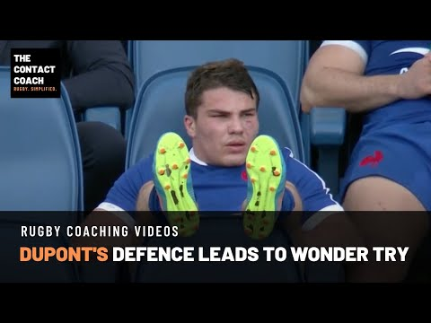 Rugby Coaching: Dupont's Defence Leads to a Wonder Offload & Try