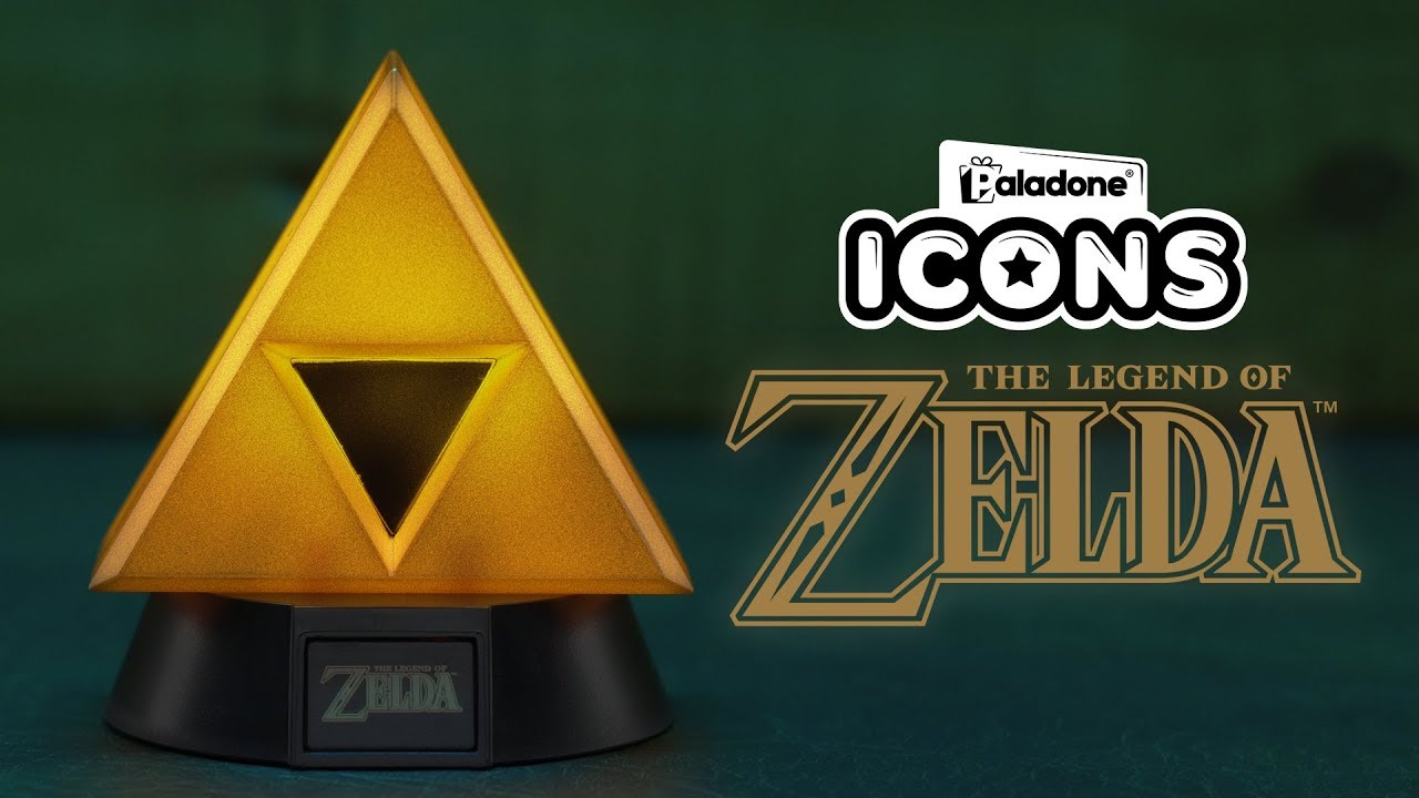 The Legend of Zelda Gold Triforce Icon Light   Paladone - YouTube