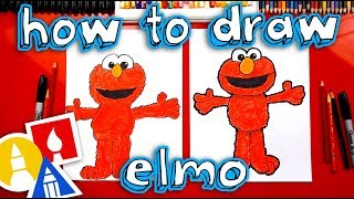 How To Draw Elmo From Sesame Street