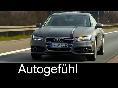 Exclusive Audi autonomous driving car expert review: Audi A7 Piloted Driving Concept German Autobahn