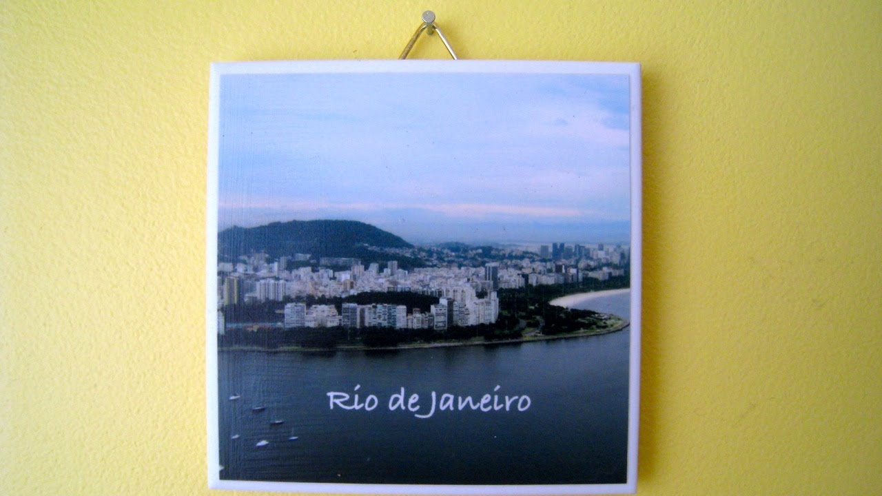 How to make a Photo Coaster \ Ceramic Tile Wall Hanging ...