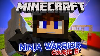 Minecraft: Ninja Warrior Course B [PARKOUR MAP] Many Blurghs