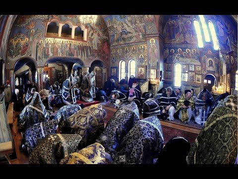 Russian Orthodox Presanctified Liturgy in Holy Trinity Monastery
