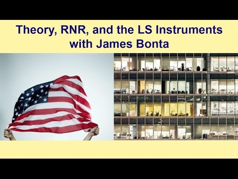 Theory, RNR, and the LS Instruments with James Bonta