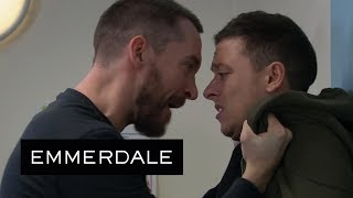 Emmerdale - Enraged Pete Attacks Matty for Causing Rhona's Accident