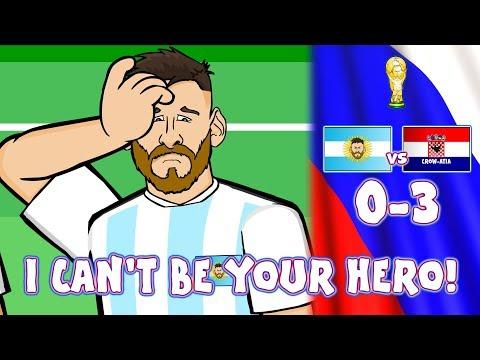 😲0-3 ARGENTINA vs CROATIA!😲 Messi Can't Be Argentina's Hero! (Caballero Kick Parody  Highlights) thumbnail