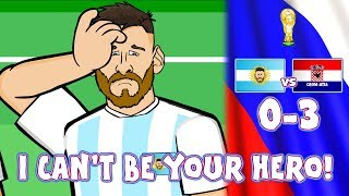 😲0-3 ARGENTINA vs CROATIA!😲 Messi Can't Be Argentina's Hero! (Caballero Kick Parody  Highlights)