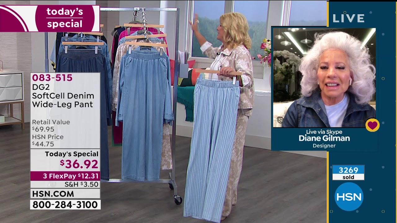 Dg2 By Diane Gilman Softcell Denim Wideleg Pant Fashion Youtube
