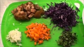 Лёгкий салат из капусты. Диета.