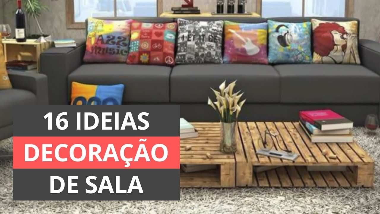 Decoracao Yotube ~ Decoraç u00e3o de sala 16 ideias gastando pouco! YouTube