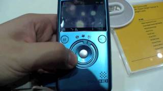 Samsung P100 Point and Shoot Camcorder Hands On - German
