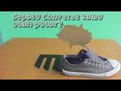 Tutorial Menghitamkan Sepatu Converse Youtube