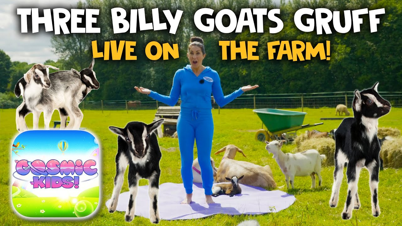 Yoga With Goats! 3 Billy Goats Gruff 🐐 | Cosmic Kids Yoga (app preview)