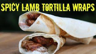 Spicy Lamb Tortilla Wraps