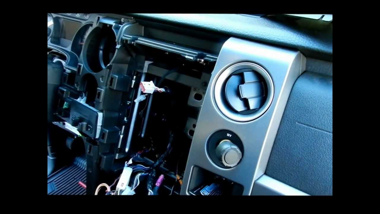 2011 f150 platinum radio removal