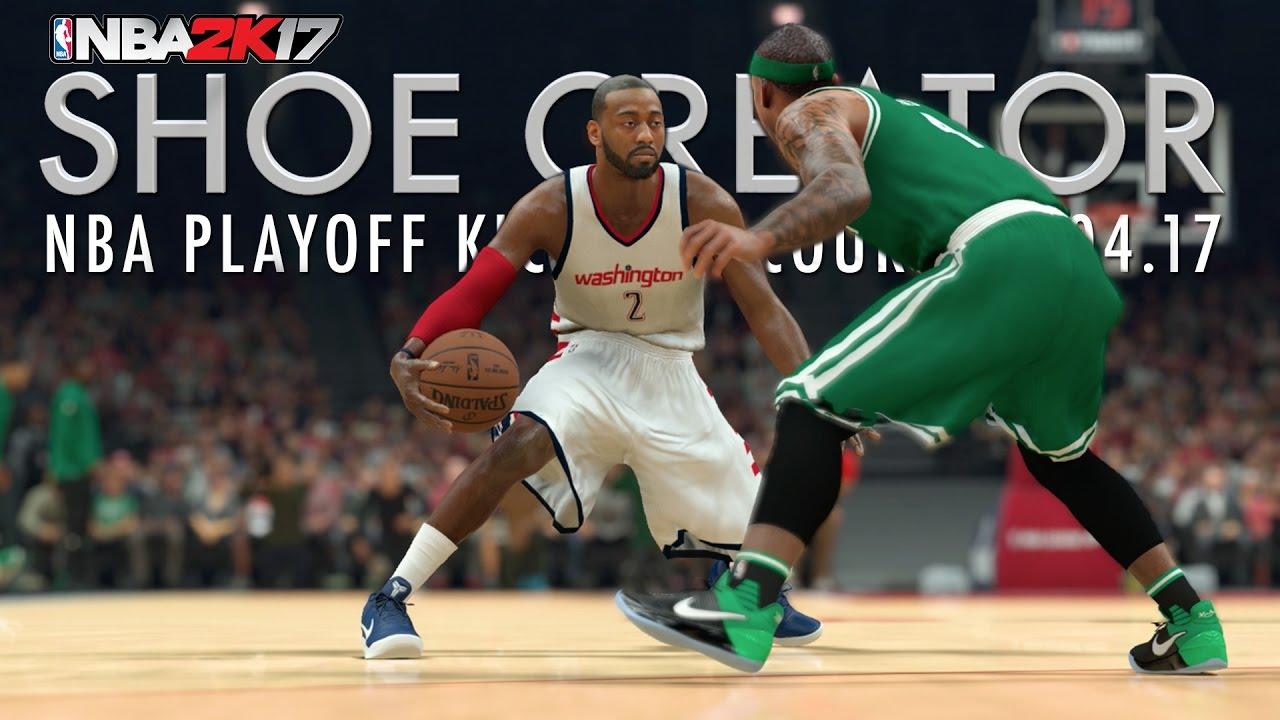 63391e344e6c NBA 2K17 Shoe Creator  NBA Playoff Kicks On Court 05.04.17 - YouTube