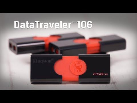 Capless USB Flash Drive, USB 3.1, 16GB, 32GB 64GB - DataTraveler 106 – Kingston Technology
