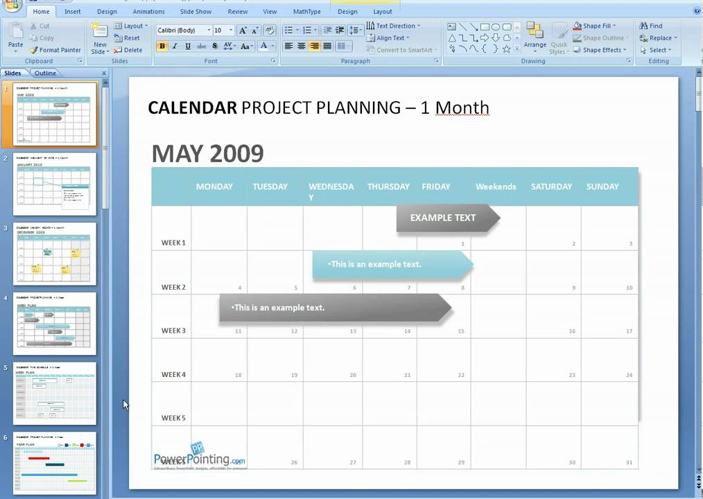 How to edit a calendar in PowerPoint - YouTube - powerpoint calendar template