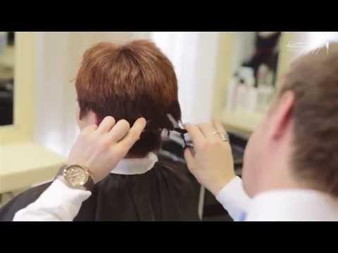 Очень красивая стрижка на длинные волосы