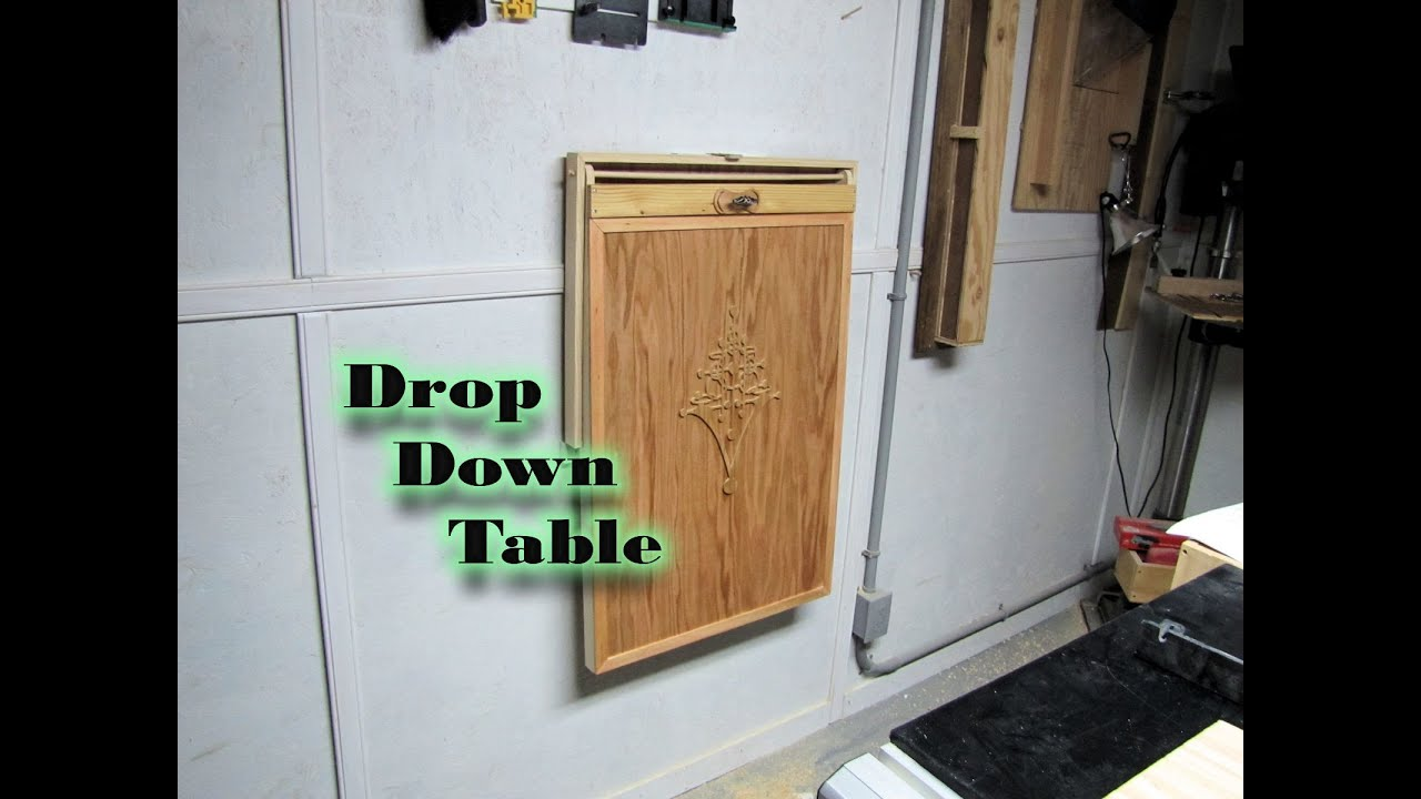 """My """"April"""" inspired drop down table - YouTube"""
