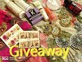 GIVEAWAY || 12 Product || LIP CARE + NAIL ART + JEWELLERY + SKIN CARE(close).