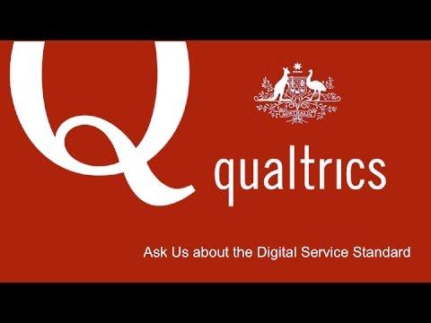 Qualtrics Intro For Australian Government Addressing The Digital Service Standard