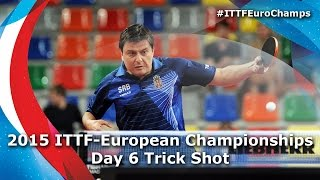2015 European Championships - Day 6 Trick shot