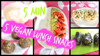Healthy Vegan Lunch Snack Ideas In Less Than 5 Minutes