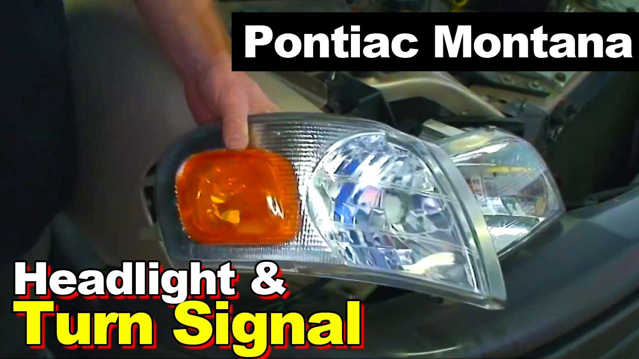 2003 Pontiac Montana Headlight And Turn Signal Light Youtube Wiring