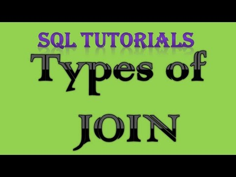 SQL Tutorial 14 Types of JOIN