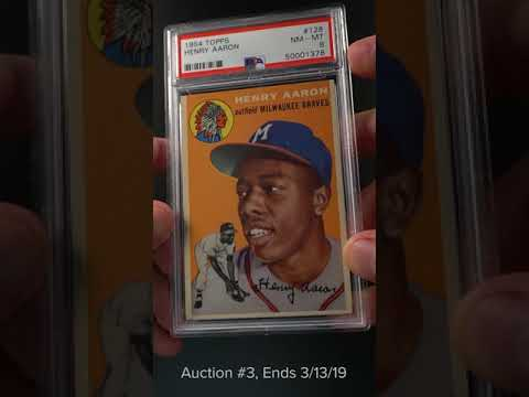 1954 Topps Hank Aaron Rookie Rc 128 Psa 8 Nm Mt Pwcc
