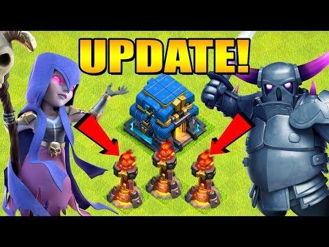 THREE INFERNO TOWERS!?  UPDATE SNEAK PEEK #2 Halloween 2018 Clan War Leagues Clash of Clans
