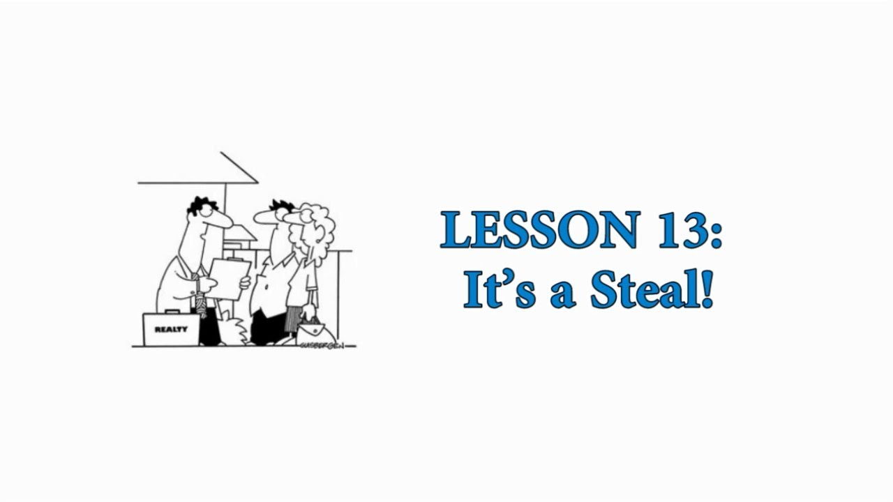 EASY AMERICAN IDIOMS: Lesson 13 - It's a Steal!